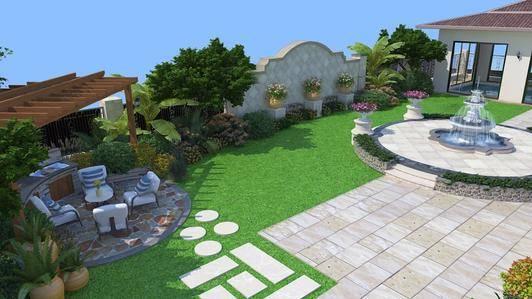 绿地庭院1000平
