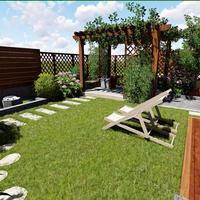 别墅园林景观设计篱落疏疏一径深