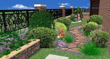 一个有花有草的别墅园林景观设计